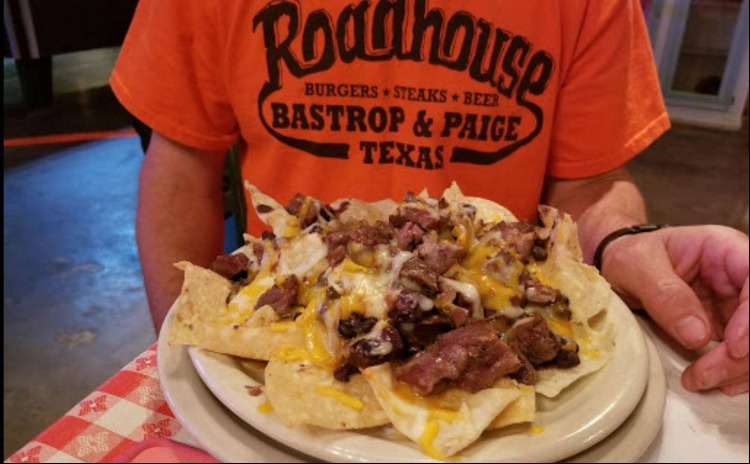 A table of food from Roadhouse